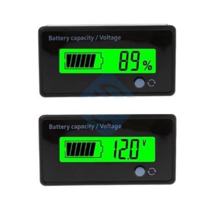 Akumuliatoriaus įkrovimo lygio indikatorius:voltmetras