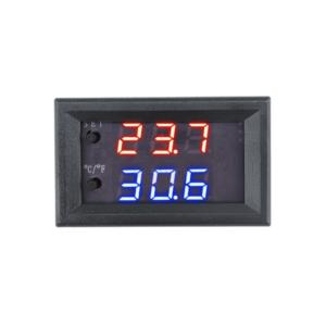 Temperatūros indikatorius su jutikliu