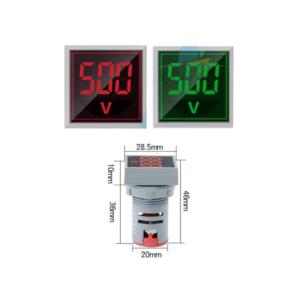 Voltmetras AC 60V-500V: DC 6-100V